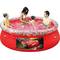 Бассейн с надувным бортом Fast Set, серия Disney Тачки, (244 х 66 см)