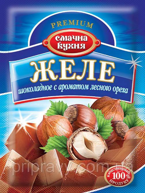 Желе шоколадное с ароматом лесного ореха ТМ Смачна кухня, 70 г