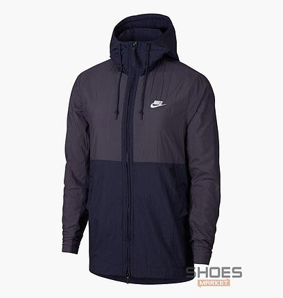 Куртка Nike M JKT HD WVN Blue 928857-081, оригинал, фото 2