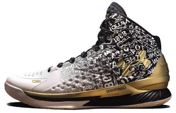 Баскетбольные кроссовки Under Armour 3C Curry 1 Gold (Premium-class) разноцветные