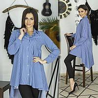 Блуза - рубашка / бенгалин / Украина 44-0109-1, фото 1