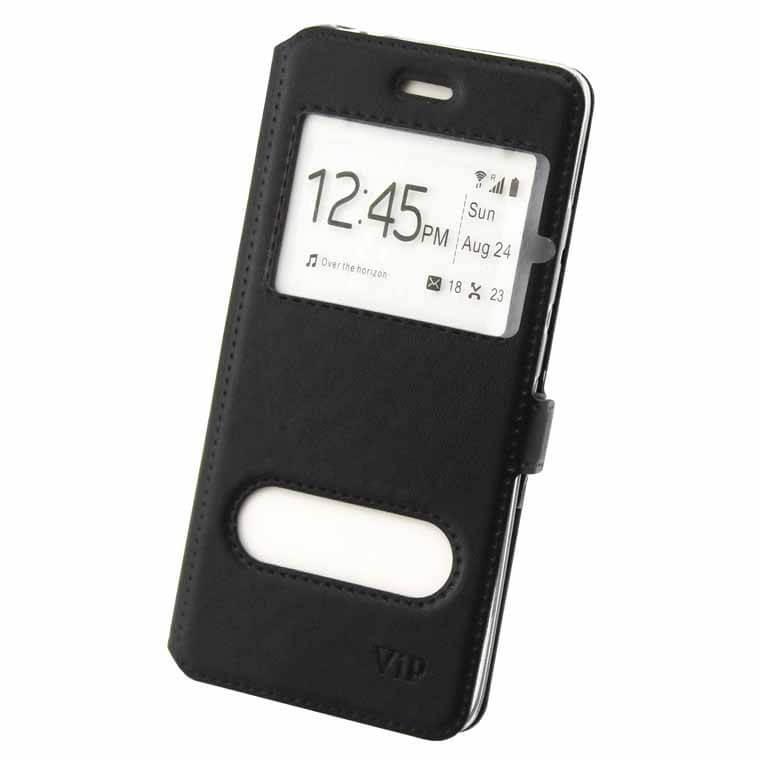 Чехол-книжка ViP 2 окна Apple iPhone 7, 8 черный