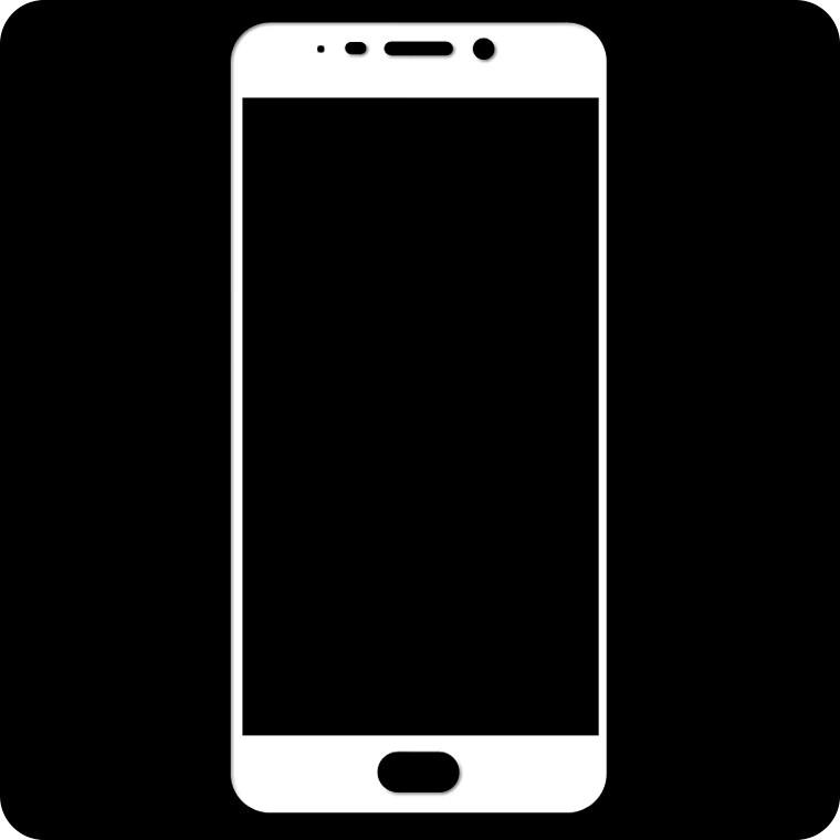 Защитное стекло Full Screen Meizu M6 Note white тех.пакет