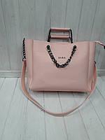 Женская сумка ZARA пудровая