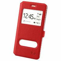 Чехол-книжка ViP 2 окна Samsung Grand Prime G530, J2 Prime G532 красный