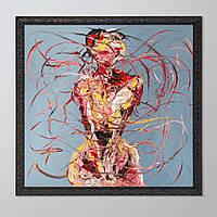 """Оригинальная абстрактная картина большого формата """"BODY MOVEMENT"""" от WORAPOL"""