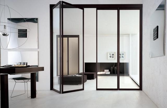 Алюминиевая дверь гармошка