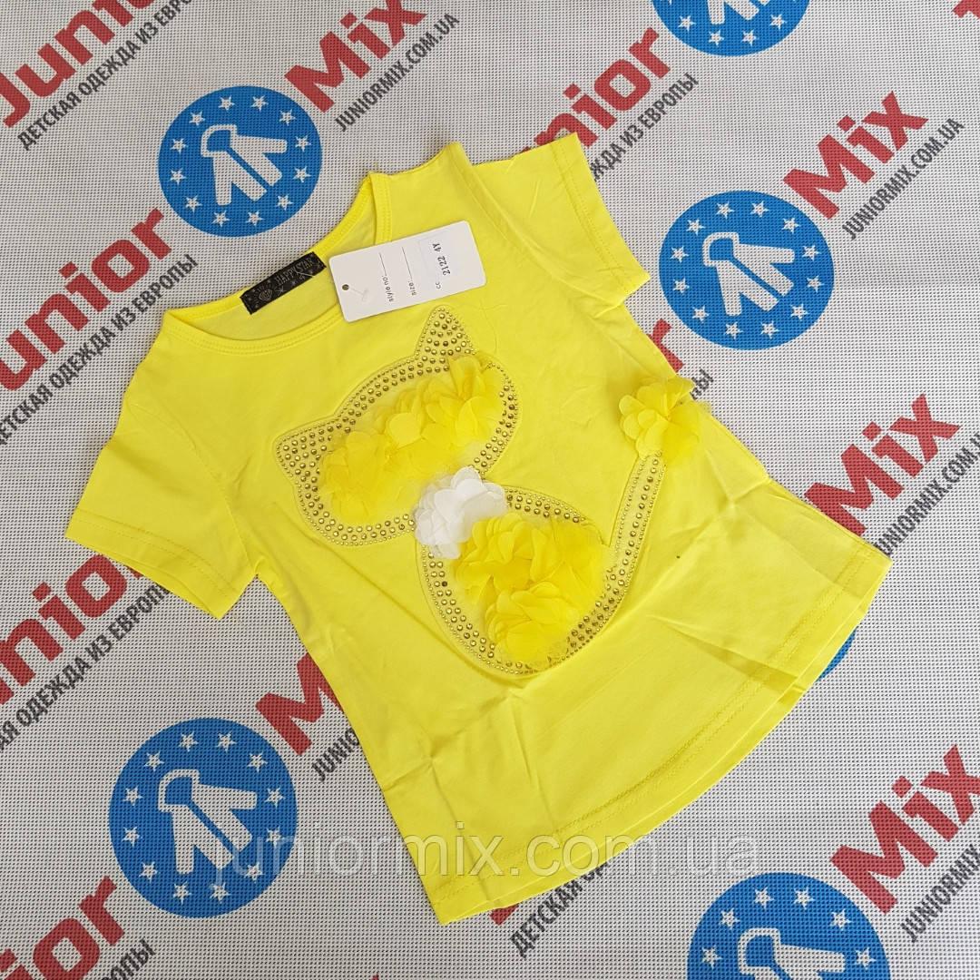 ecdf014291fc Купить Детские трикотажные модные футболки для девочек оптом HAPPY ...
