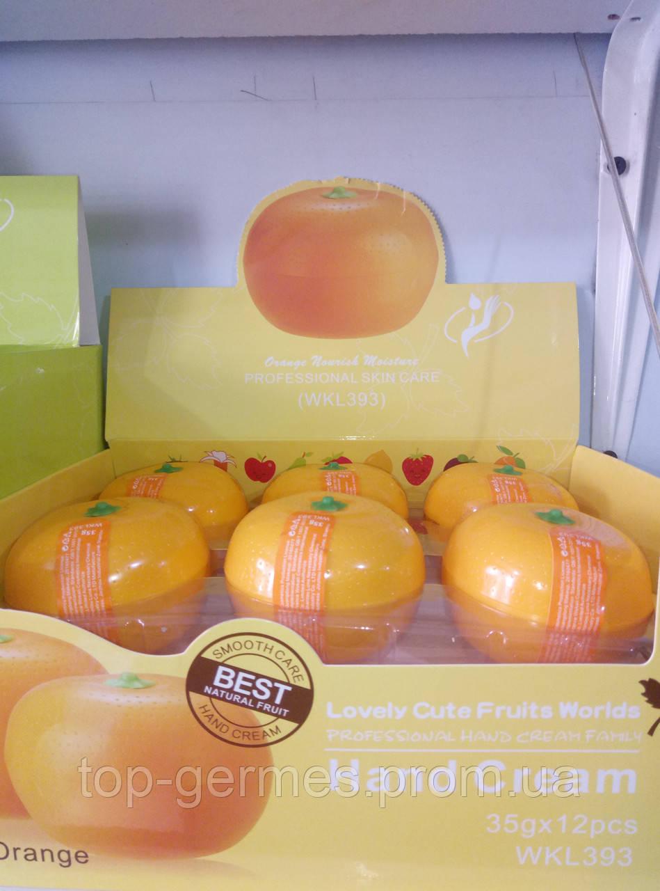 Фруктовый крем для рук в виде апельсина