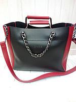 Женская сумка Zara черно-красная, фото 1