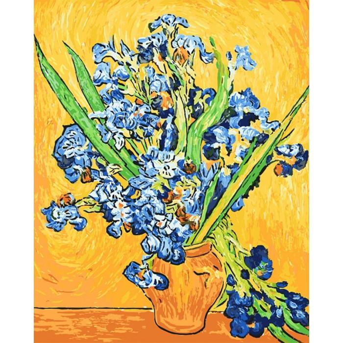Картина по номерам Идейка - Ирисы в вазе. Ван Гог 40x50 см (КНО2013)