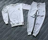 Спортивный костюм со свитшотом бело-серого цвета