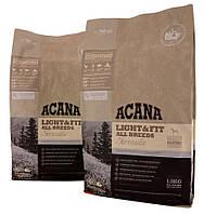 Корм для собак ACANA Light & Fit 11,4 кг акана для собак склонных к ожирению