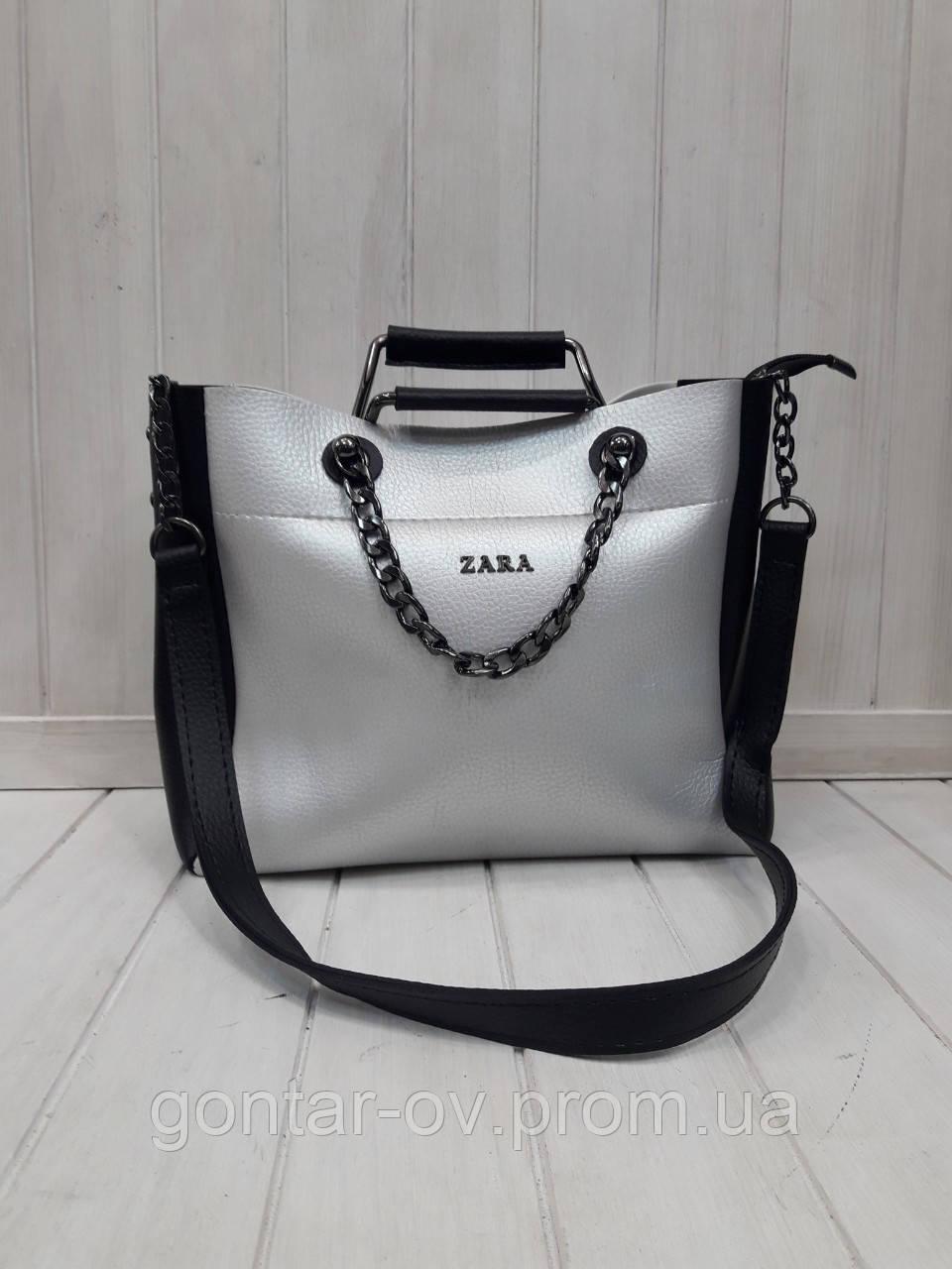 Женская сумка Зара комбинированная