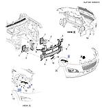 Кронштейн переднего бампера правый, Каптива C140, 42485665, фото 4