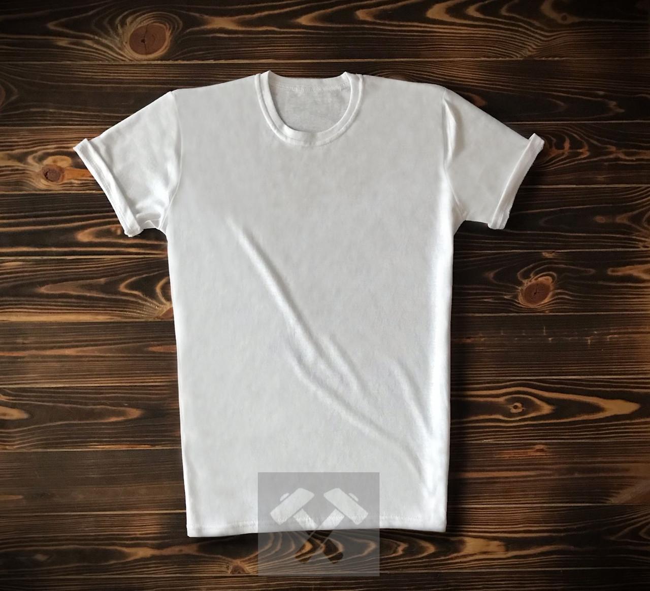 Чоловіча футболка з бавовни біла