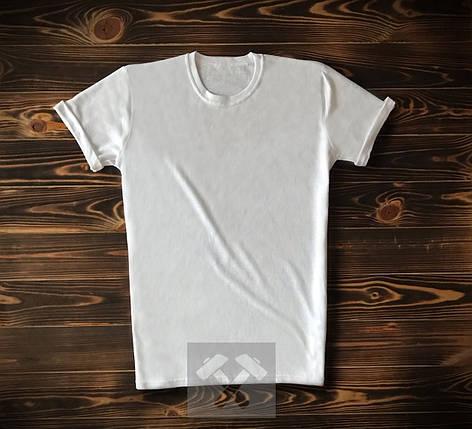 Чоловіча футболка з бавовни біла, фото 2