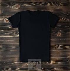 Мужская футболка из хлопка черная