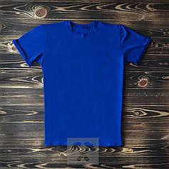 Мужская футболка из хлопка синяя