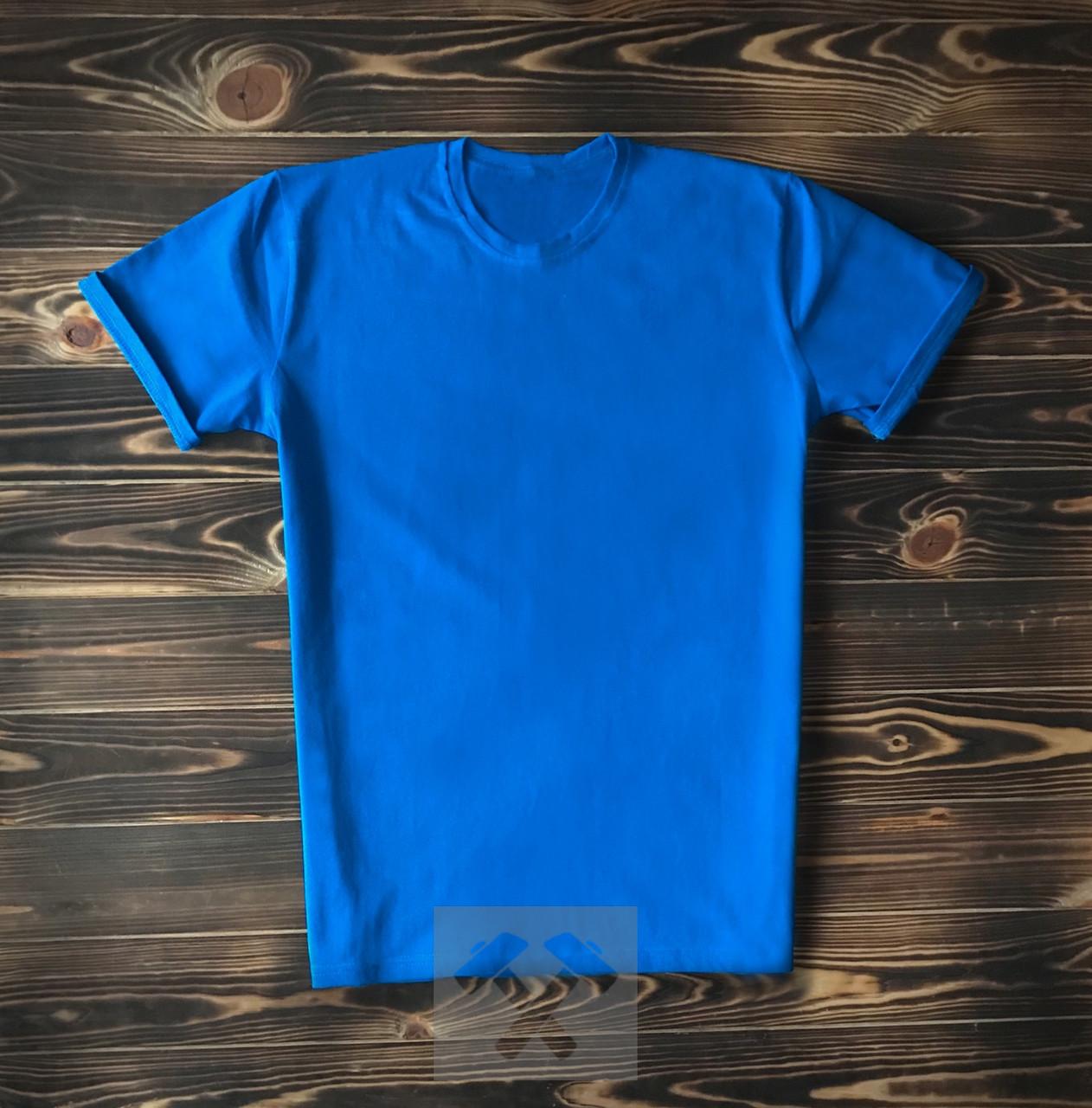Чоловіча футболка з бавовни бірюзова