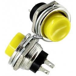 Кнопка нажимная DS-212 OFF-(ON) желтая 3А Daier