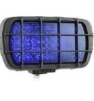 Сигнальный фонарь Wesem 4НР 283.01 синий с решеткой