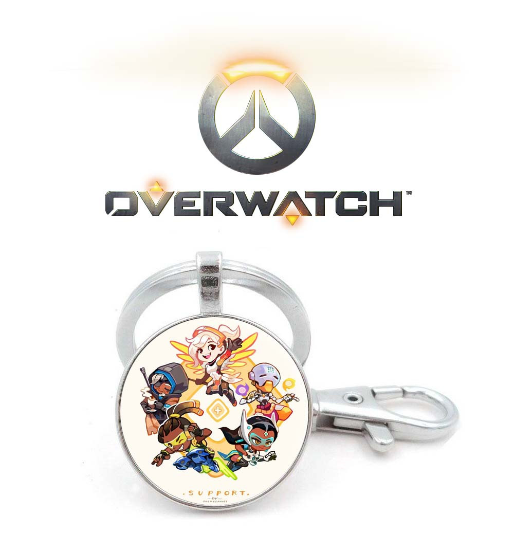 Брелок Overwatch с игровыми персонажами