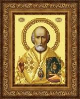 Схема для вышивки бисером икона Святой Николай Чудотворец