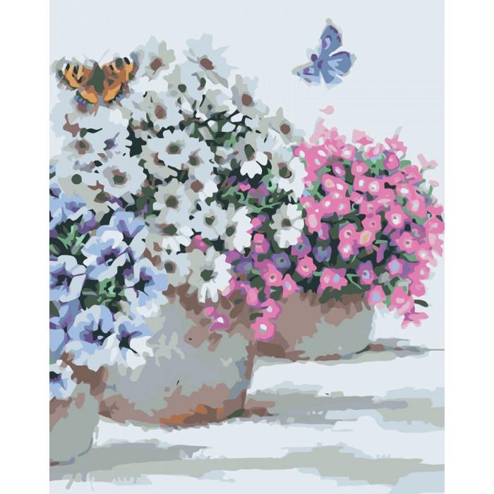 Картина по номерам Идейка - Цветы в горшочках 40x50 см (КНО2933)