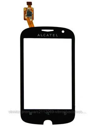Тачскрин (сенсор) Alcatel OT-990 black, фото 2