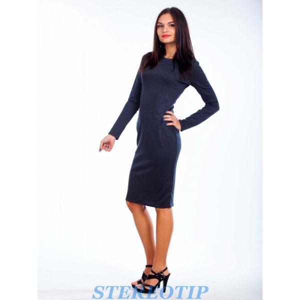 Платье карандаш миди (Темно-синий)
