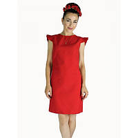 Платье Рюши (Красный)