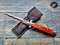 Нож выкидной Стилет с волнистым лезвием