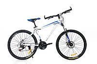 "Велосипед OSKAR 26"" 16019 steel белый, фото 1"