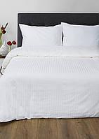 Постельное белье Сатин-страйп 1*1 Белое Lotus