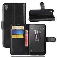 Чехол-книжка Litchie Wallet для Sony Xperia E5 F3311 F3313 Черный