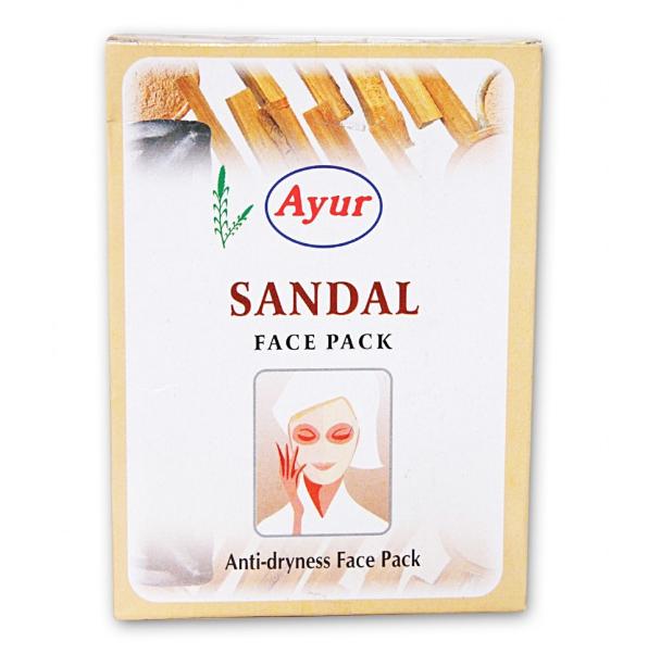 Маска для лица увлажняющая Сандал, Sandal,  Ayur, 100 г