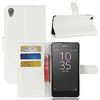 Чехол-книжка Litchie Wallet для Sony Xperia E5 F3311 F3313 Белый