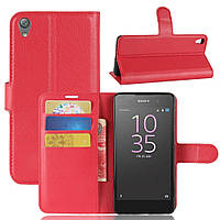 Чехол-книжка Litchie Wallet для Sony Xperia E5 F3311 F3313 Красный