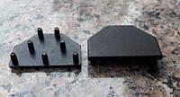 Заглушка для торгового профиля черная. Модель 2633