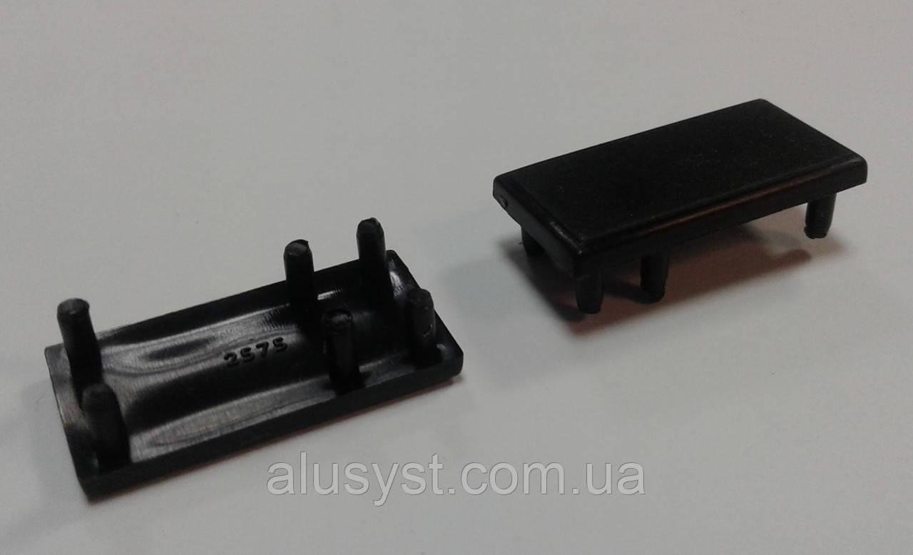 Заглушка для торгового профиля черная. Модель 2575