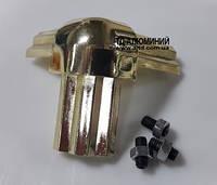 Стык тройной для торгового профиля 2578, гальваника / золото, фото 1