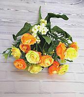 Букет роз желто-оранжевых