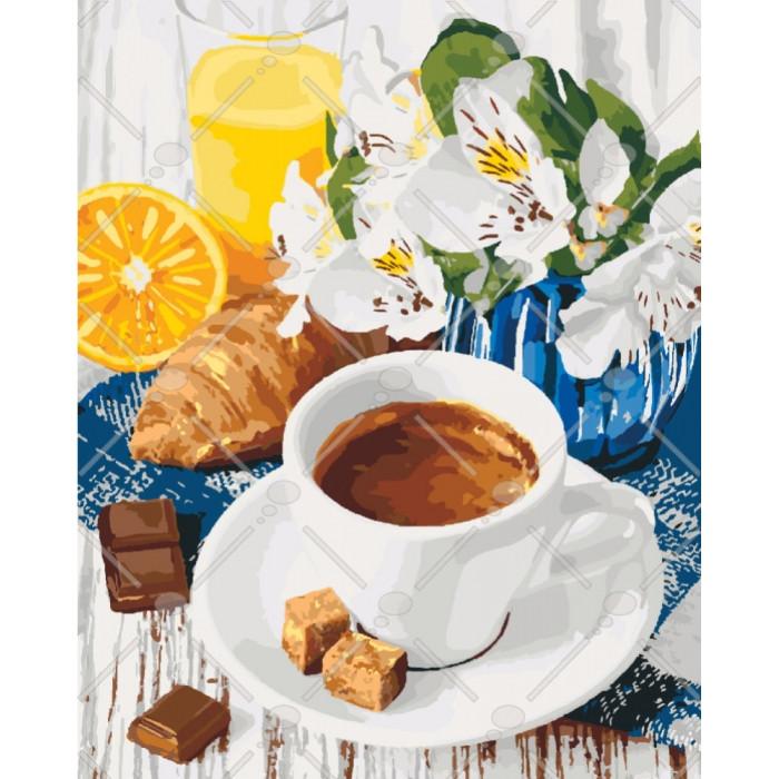 Картина по номерам Идейка - Утренние сладости 40x50 см (КНО5539)