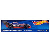 Фарби акварельні в картонній упаковці Kite Hot Wheels 6 кольорів HW19-040, фото 1
