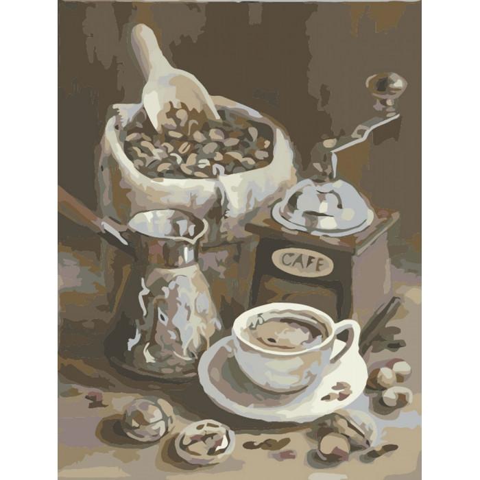 Картина по номерам Идейка - Утренний кофе 40x50 см (КНО2047)