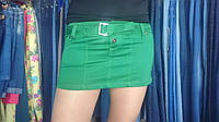 Юбка зеленая короткая катон Турция