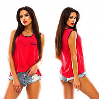 Майка - блузка «Оливия» (Красный)