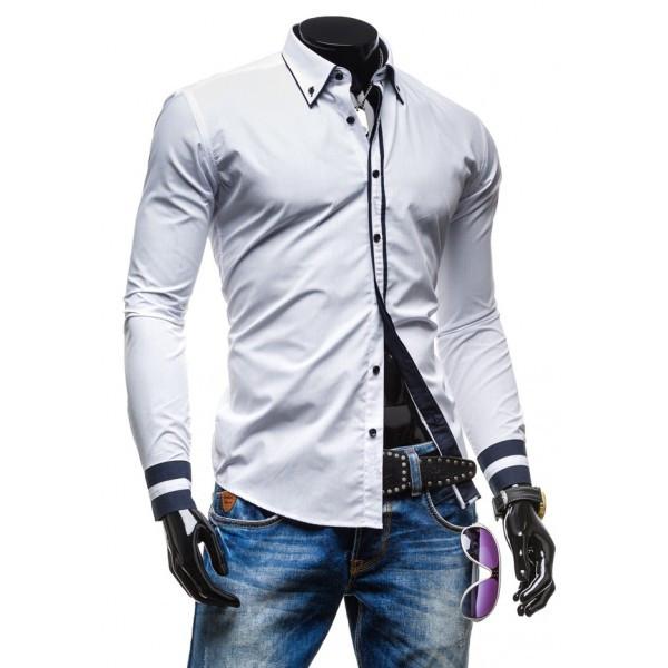 Рубашка с черными вставками