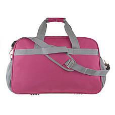 Дорожная сумка TONGSHENG 55x37x23 нейлон бордовая  кс99501бор, фото 3